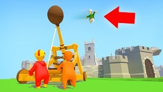 3 GUYS, 1 CATAPULT! (Human Fall Flat Episode #2)
