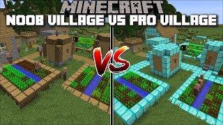 Minecraft NOOB VILLAGE VS PRO VILLAGE MOD / FIND OUT WHAT VILLAGERS PREFER !! Minecraft