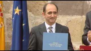 preview picture of video 'Entrega del Premio Príncipe de Viana de la Cultura 2013 y homenaje a los Reyes de Navarra'