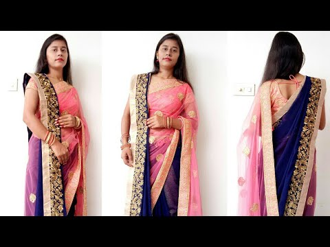 How to Drape Saree in Double Pallu New Style - Diwali Special
