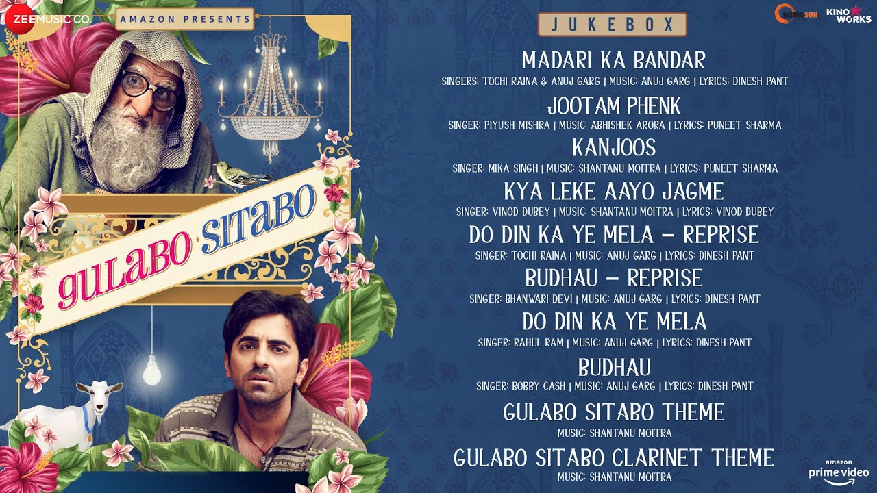 Jootam Phenk -Gulabo Sitabo - Full Movie Audio Jukebox | Amitabh Bachchan & Ayushmann Khurrana - Piyush Mishra Lyrics