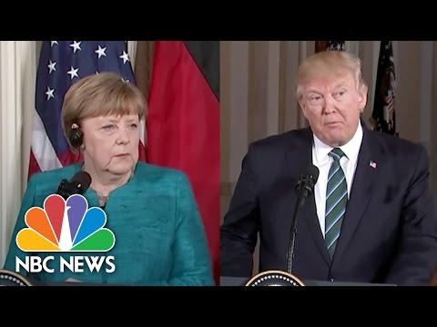 President Trump Reiterates 'Strong Support For NATO' to Germany's Angela Merkel | NBC News