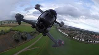 Race drone flight over Empel