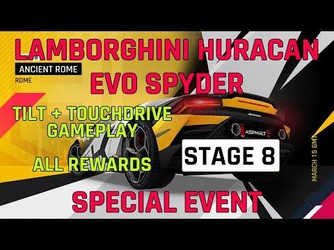 Estágio 8 Lamborghini Huracan Evo Spyder Evento especial