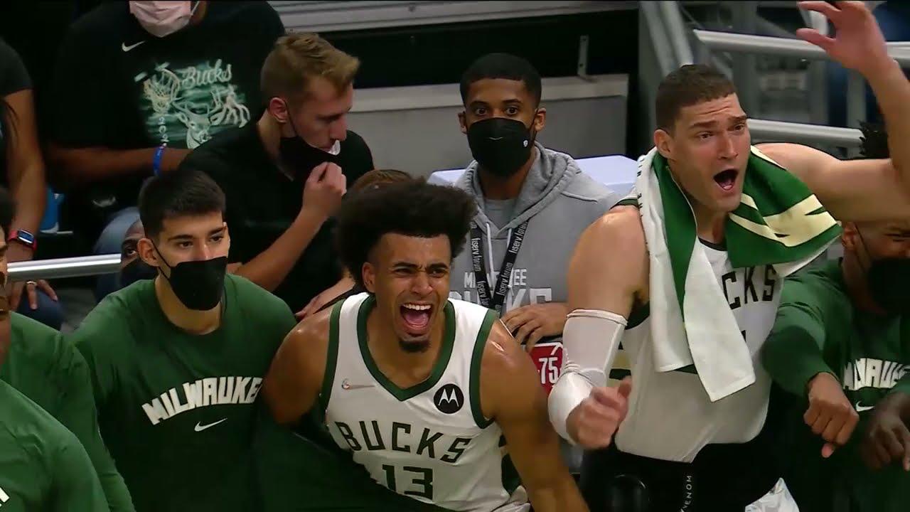 Bucks Bench Goes WILD After Grayson Allen Dunk!
