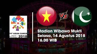 Live Streaming Vidio.com Asian Games 2018 Timnas U-23 Vietnam Vs Pakistan Pukul 16.00 WIB