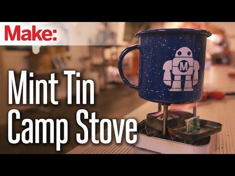 Build A Miniature Stove With Two Mint Tins