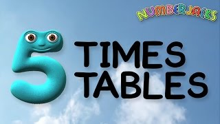 5 Times Tables Song -  Numberjacks