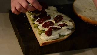 Flat bread mozzarella sandwich recipe