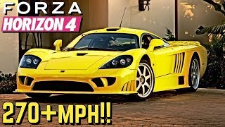 FORZA HORIZON 4 - 270+ MPH Saleen S7 Tutorial!!