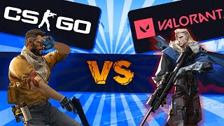 CSGO player with 15,000 hours tries VALORANT!