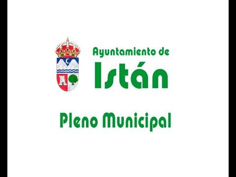 Pleno Ayuntamiento de Istán - Abril 2021