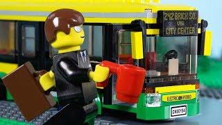 LEGO City Bus STOP MOTION LEGO Bus Fail Brick Building | LEGO City | Billy Bricks
