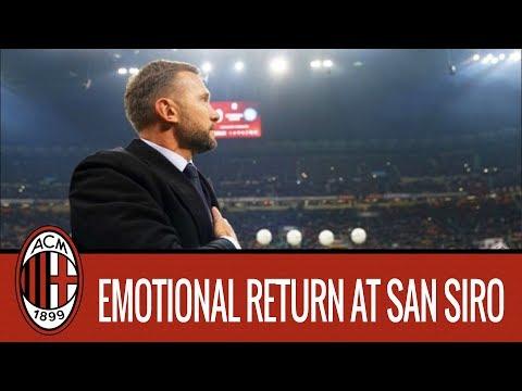 Andriy Shevchenko's emotional return at San Siro