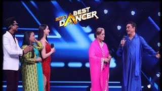 India's Best Dancer  Special Guests Shatrughan Sinha and his wife Poonam on IBD  Set