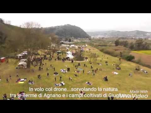 In volo col Drone sulle Terme di Agnano e sui campi coltivati di Giugliano. GUARDA IL VIDEO