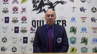 МЛК «JASTAR» Послематчевое интервью «QULAGER» - «GORNAK» Емельянов Вячеслав Славович