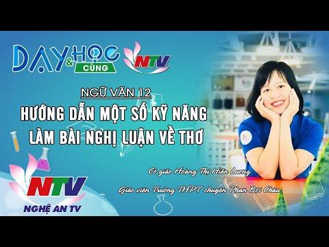 MÔN NGỮ VĂN 12: HƯỚNG DẪN MỘT SỐ KỸ NĂNG LÀM BÀI NGHỊ LUẬN VỀ THƠ | 17H NGÀY 11/4/2020 (NTV)