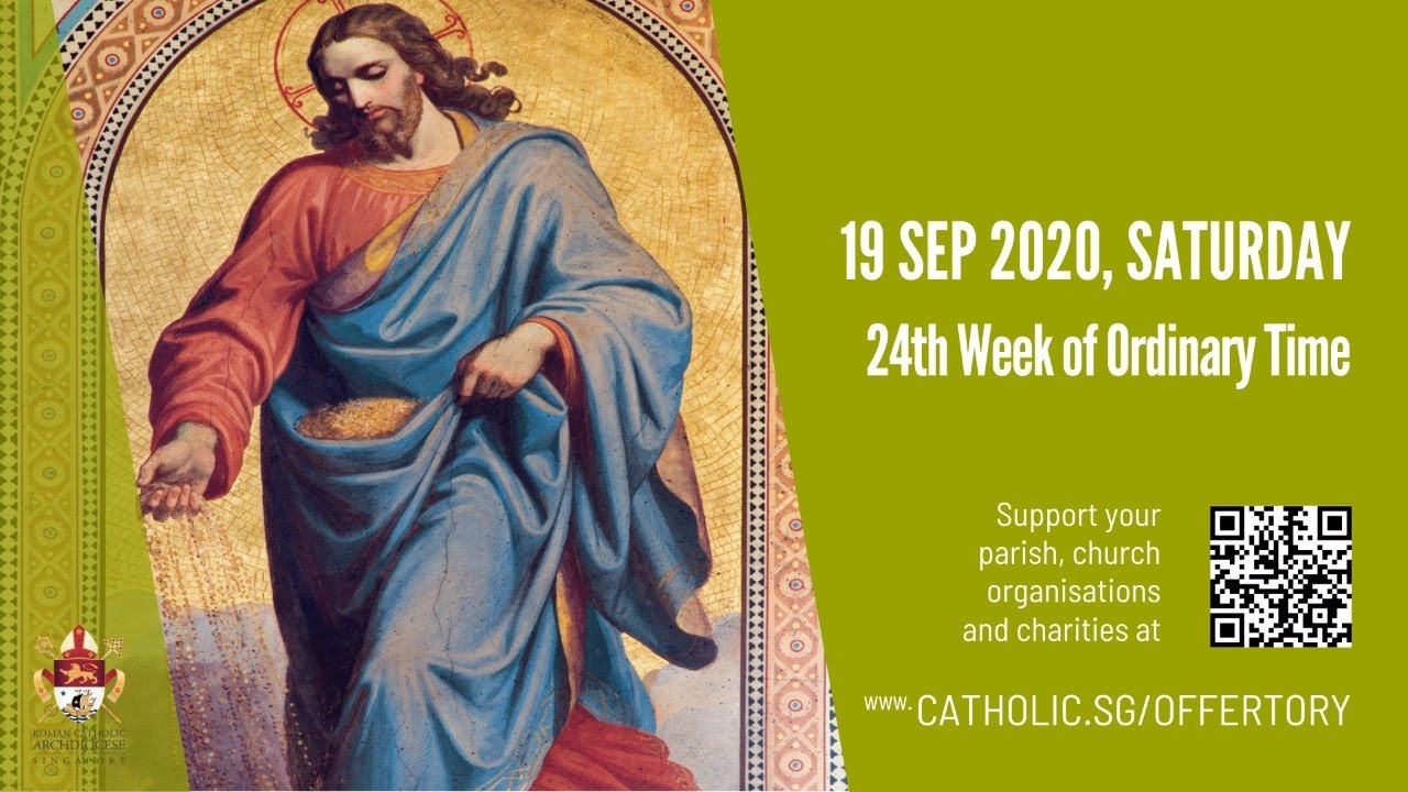Catholic Live Mass 19th September 2020 Saturday Today Online 24th Week of Ordinary Time