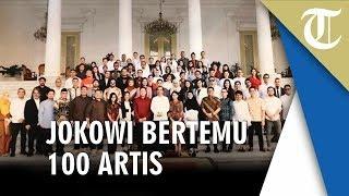 Momen Jokowi Bertemu 100 Artis di Istana Negara