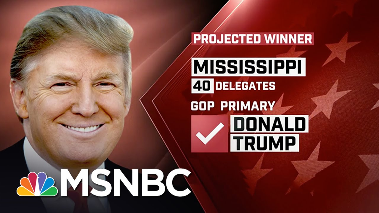 Donald Trump Wins Mississippi GOP Primary: NBC News Projection | MSNBC thumbnail