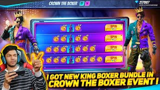 New Crown The Boxer Event I Got New King Boxer Bundle At Garena Free Fire 2020