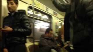 Пьяные в метро / Пьяные драки в метро. ПОДБОРКА 2015 NEW