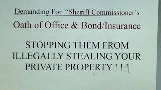 """(P-1) Demand for """"Sheriff's Commissioner's Oath of Office & Bond/Insurance"""""""