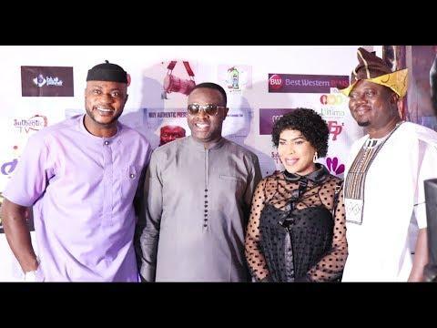 Odunlade Adekola,Femi Adebayo,Faithia Balogun,Funmi Awelewa Snap With Muyiwa Ademola At His Premiere