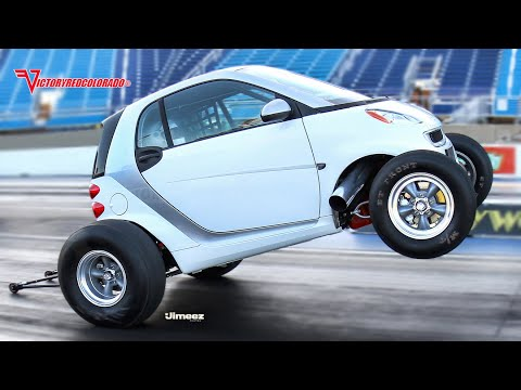 Crazy Smart Car with Big Block Chevy V8!