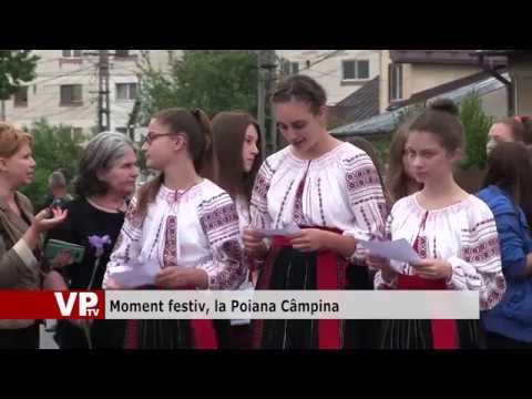 Moment festiv, la Poiana Câmpina