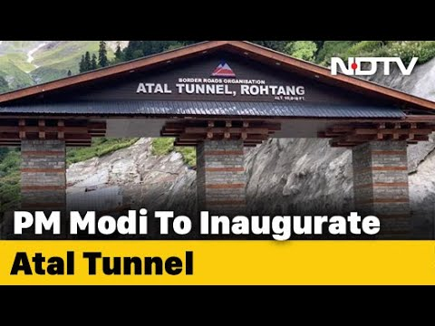 PM Modi To Inaugurate Strategic Atal Tunnel At Himachal's Rohtang Today