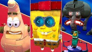 All Robot Bosses + Cutscenes - SpongeBob Battle for Bikini Bottom Rehydrated