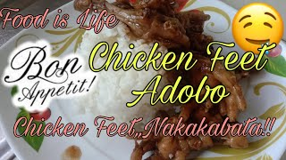 EASY COOKING RECIPE/ CHICKEN FEET ADOBO 009