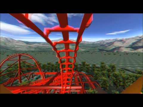 3D Rollercoaster: Falcon (3D Glasses needed) (No Limits Simulator)