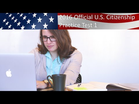 U.S. Citizenship Practice Test 1 - YouTube