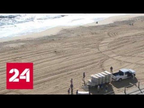 Ураган Флоренс согнал с места корабли ВМС США и авиацию - Россия 24 онлайн видео