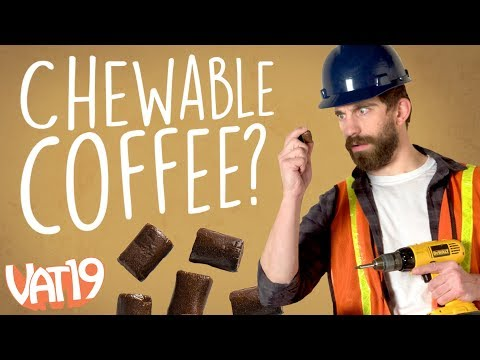A cup of coffee you can chew!