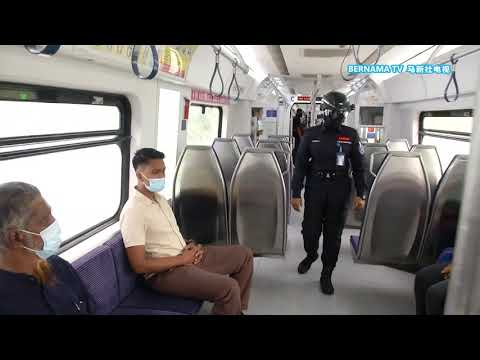 Enforcement wear smart helmets to check body temperature in public transport