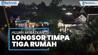 Hujan Deras Guyur Wilayah Ciputat Akibatkan Tebing Setinggi 30 Meter Longsor Timpa Tiga Rumah