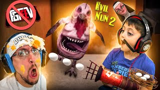 EVIL NUN 2 & her BUFF Chicken will BEAT US cuz SHAWN DISTRACTS ME! (+ FGTeeV Important Announcement)