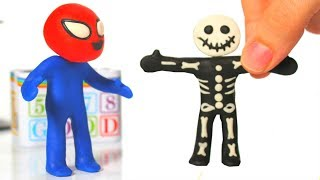 SUPERHERO BABY TRIES A GHOST COSTUME FOR HALLOWEEN ❤ SUPERHERO PLAY DOH CARTOONS FOR KIDS