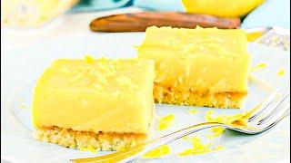 Keto Recipe - Lemon Bars Dessert, Or Make Them As A Creamy Low-Carb Snack