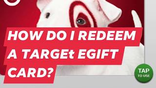HOW DO I REDEEM A TARGET E-GIFT CARD?✅