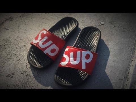 How To Make Custom Supreme Nike Sandals