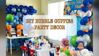 DIY Bubble Guppies Birthday Party Decor