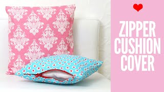 Zippered Cushion Covers For Beginners   Easy Tutorial