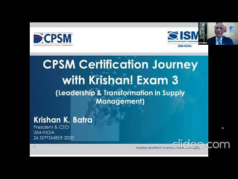 CPSM CERTIFICATION JOURNEY WITH KRISHAN! (Exam 3 ...
