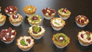 Пирожные корзиночки рецепт. Корзиночки с фруктами.