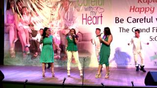 Tart, Vivieka & Joan sing 'All About That Bass' at the Be Careful With My Heart Finale Mall Show